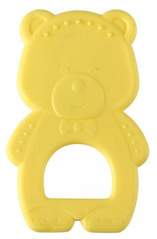 HAPPY BABY  Прорезыватель термоэластичный TEETHER TEDDY BEAR  yellow