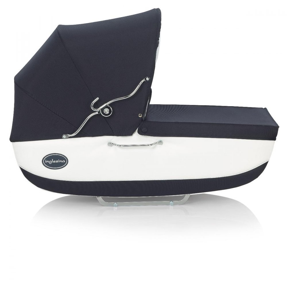 INGLESINA коляска Classica Nappa на шасси Balestrino Chrome/Blue (AB05E0NAP+AE05E1000)