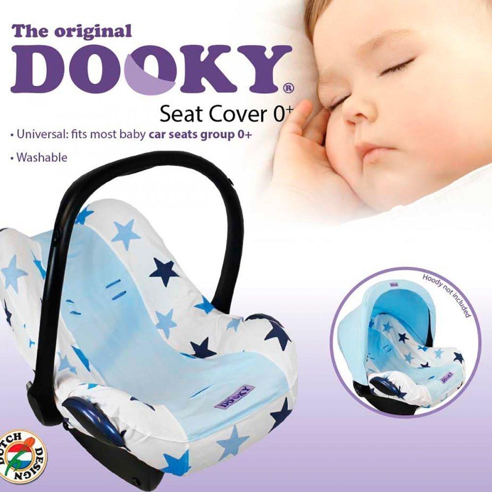 XPLORYS Чехол в автокресло DOOKY Seat cover 0+ цв. Blue Stars XPLORYS_капюшон для автокресла (DOOKY- XPLORYS)