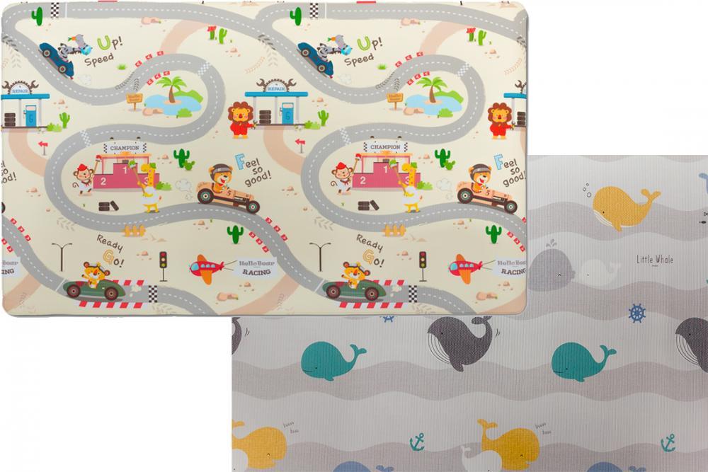 Купить со скидкой Parklon двухсторонний коврик green soft дороги/киты 190x130x1,2 см