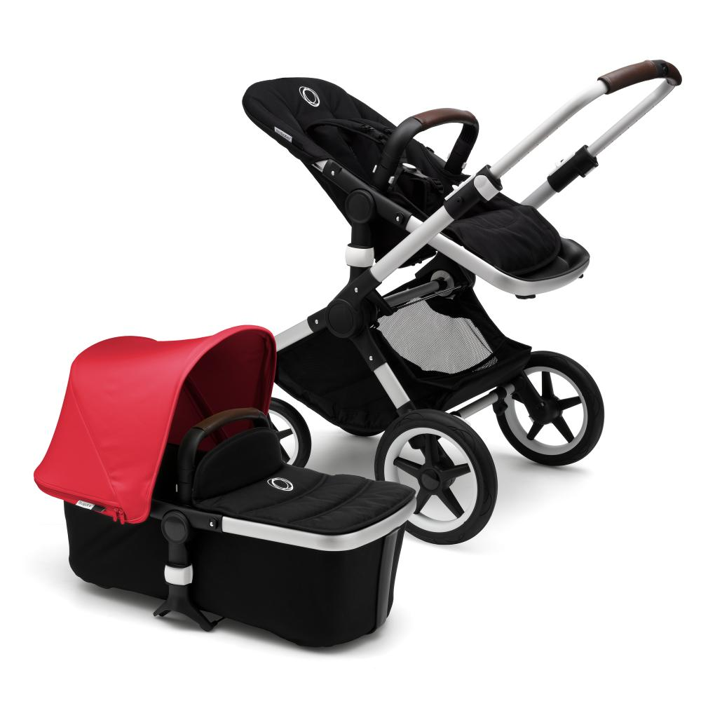 Bugaboo FOX Коляска 2 в 1 ALU/ BLACK/ NEON RED
