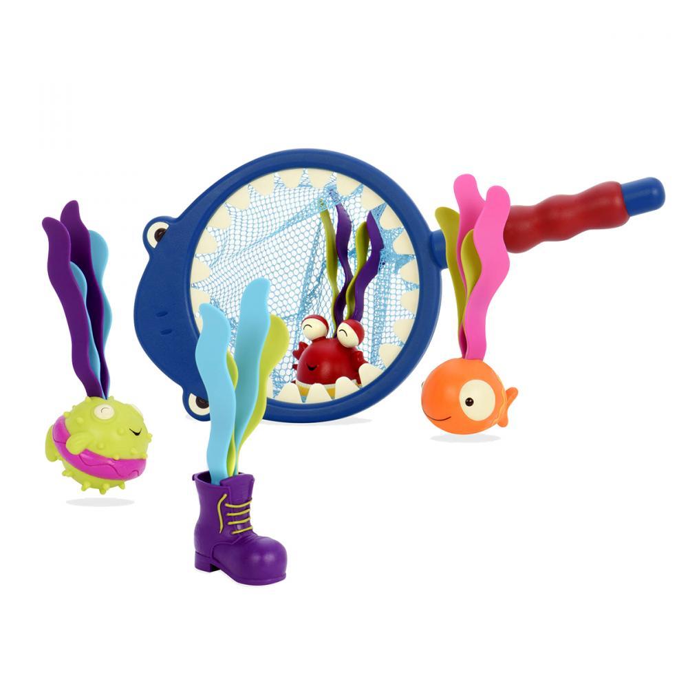 Купить Игрушки для купания, BATTAT B.Summer набор игрушек для ванной Акула