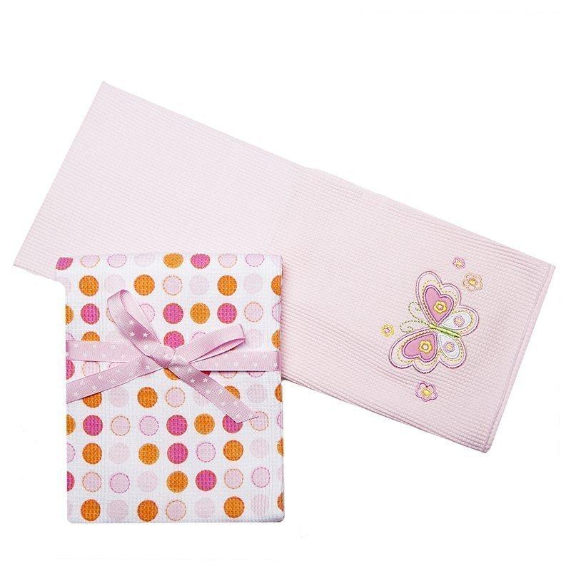Happybabydays трикотажные пелёнки, 2 шт., термо 76х76 см., розовый