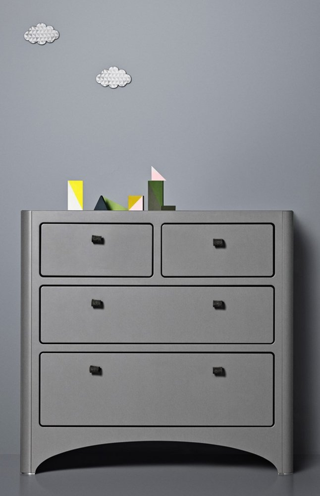 LEANDER комод 4 ящика серый