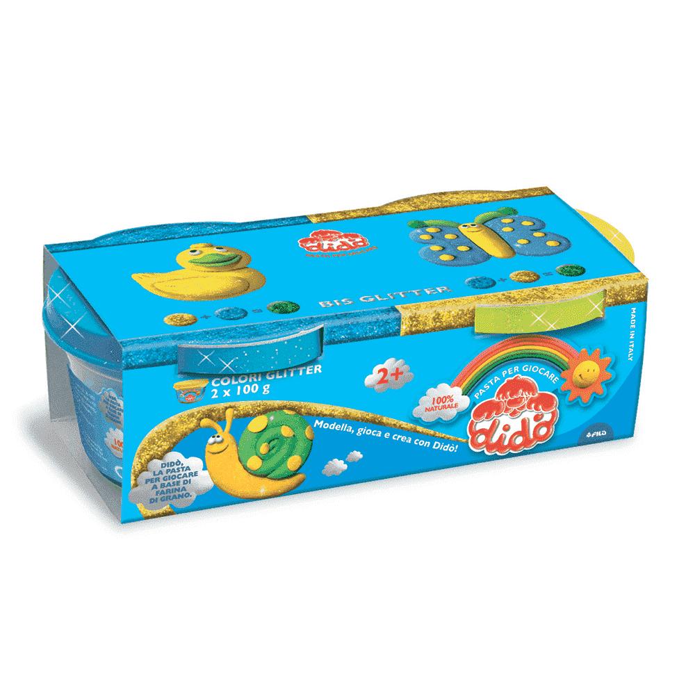 FILA DIDO Масса для лепки  2 шт х 100 гр.  Синий,  желтый.