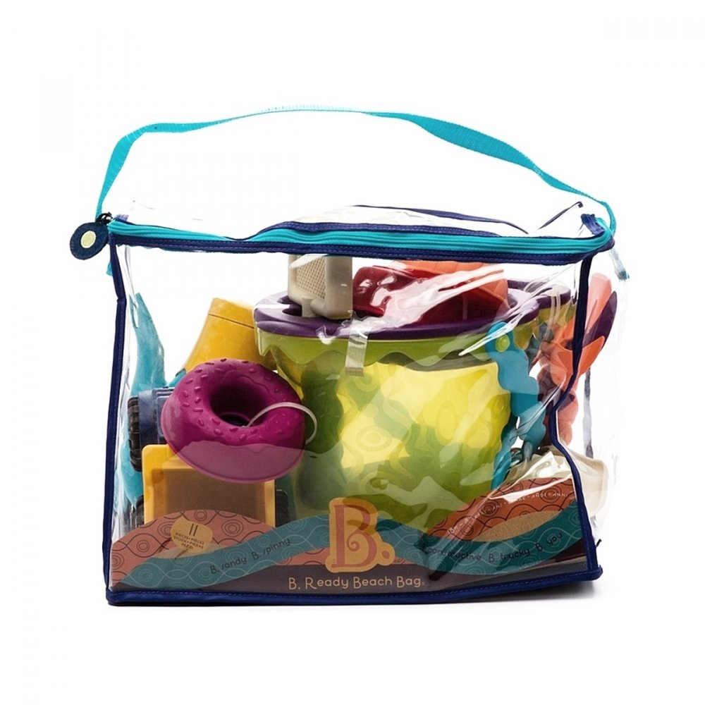 Battat b.summer набор для песка в пляжной сумке (зеленый)