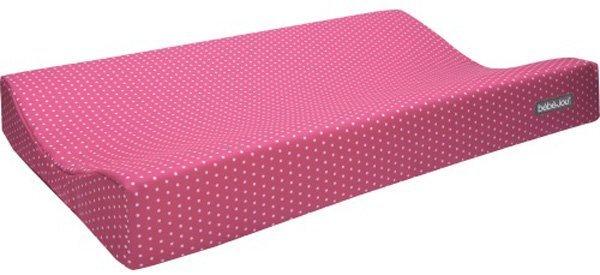 BEBE JOU матрасик для пеленания со съемным чехлом горошки розовый