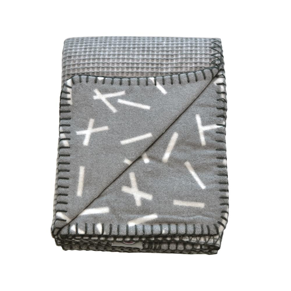 Lodger плед Dreamer Flannel/Honeycomb Carbon 100x150cm