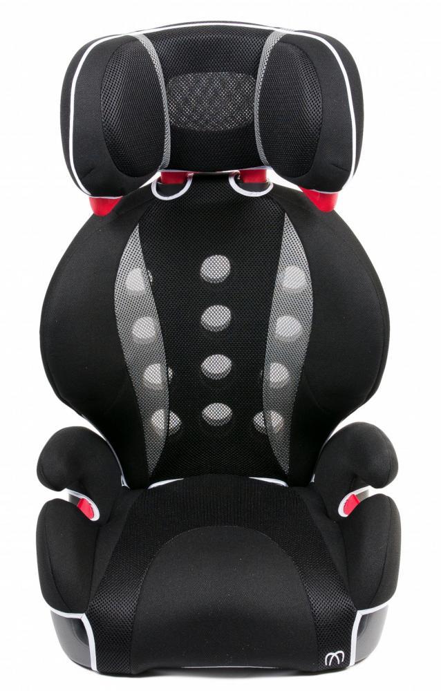 CARMATE автокресло SARATTO HIGHBACK JUNIOR QUATTRO гр.2/3 (15-36 кг) черно-серое