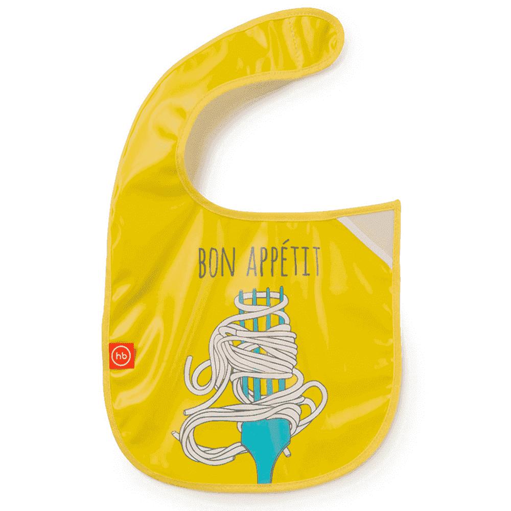 """HAPPY BABY ��������� �� ������� """"WATERPROOF BABY BIB"""" yellow"""