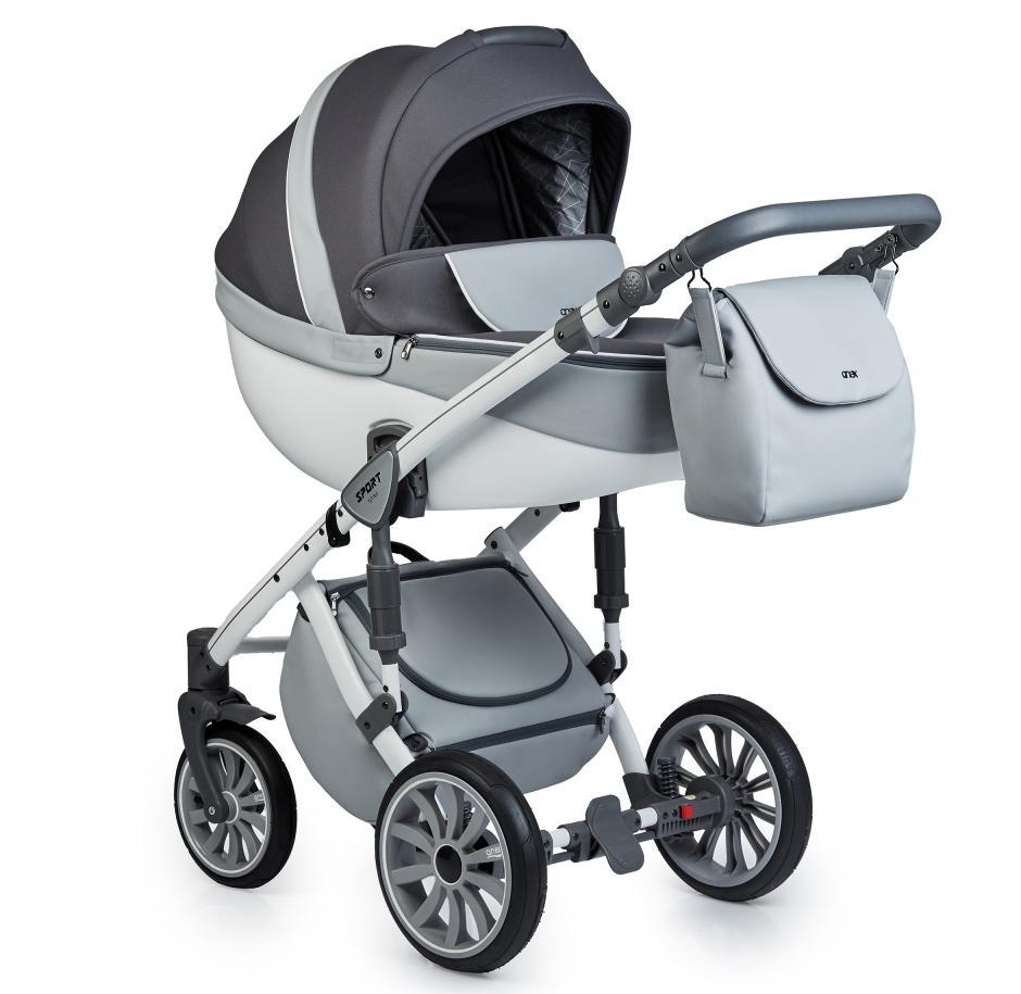 Купить Коляски для новорожденных, ANEX SPORT Коляска 2 в 1 Q1 (Sp15) gray cloud