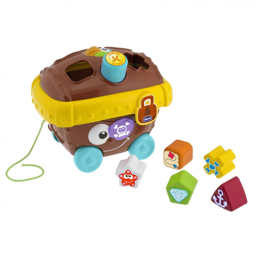 CHICCO игрушка сортер Пиратский сундук 12м