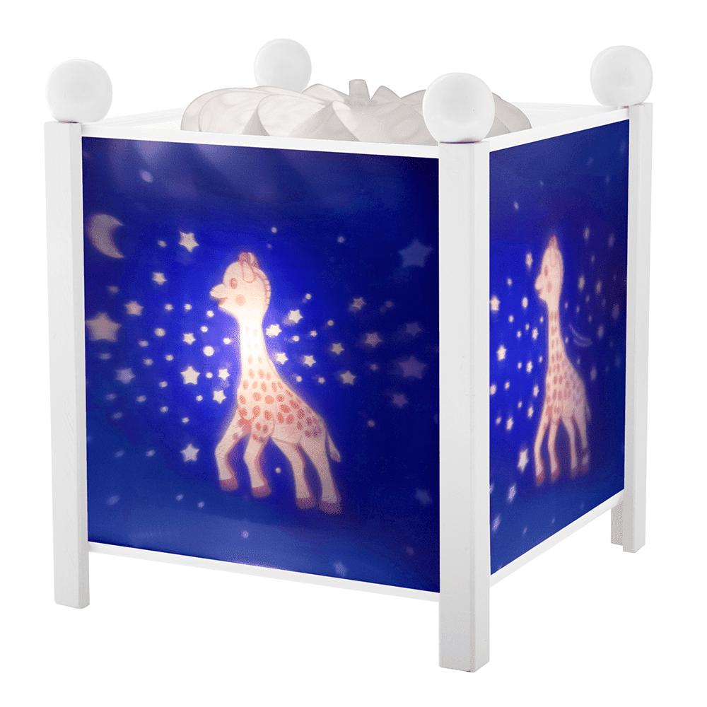 """TROUSSELIER светильник-ночник в форме куба, серия """"Sophie the giraffe©"""", белый деревянный каркас, 12"""
