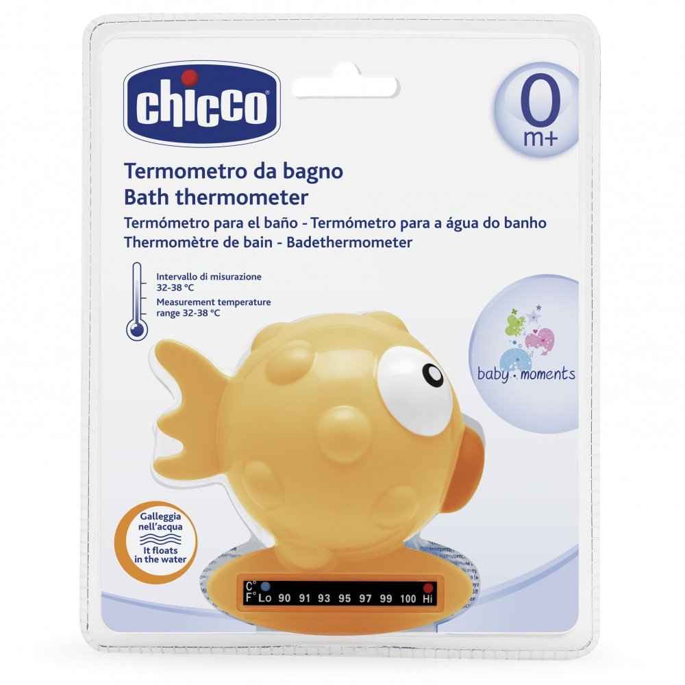 CHICCO термометр для ванны &quot,Рыба-Шар&quot,,жёлтый,0мес.+