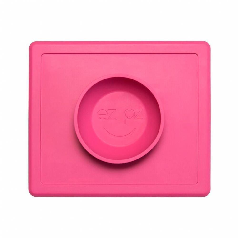 EZPZ Тарелка с подставкой Happy Bowl, розовый