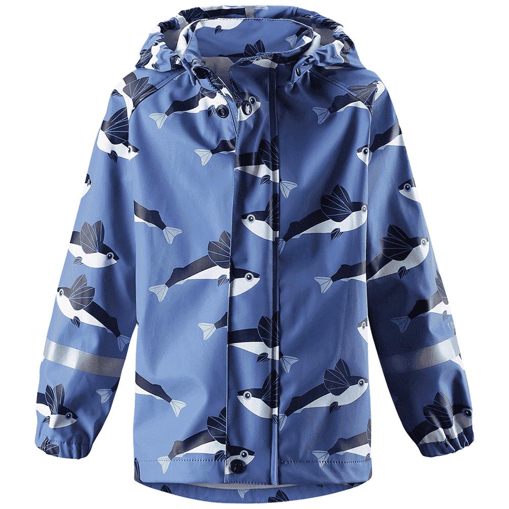 Купить Одежда для весны, REIMA куртка для дождливой погоды Vesi синяя рыбки р.104