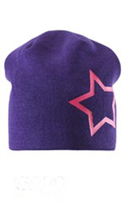 LASSIE шапка синяя с розовым р.L (54-56см)