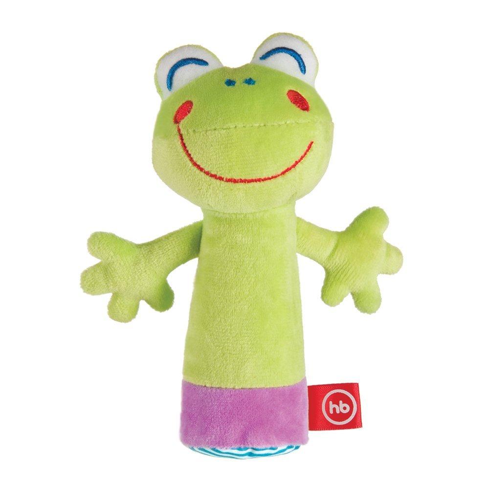 С музыкой и голосами животных HAPPY BABY развивающая игрушка пищалка happy baby cheepy frogling