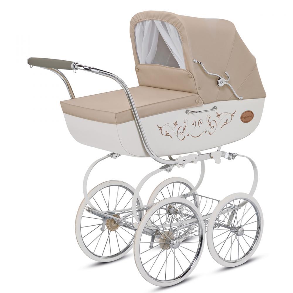 INGLESINA коляска Classica Vaniglia на шасси Balestrino Chrome/Ivory (AB05E0VNL+AE05H3100)