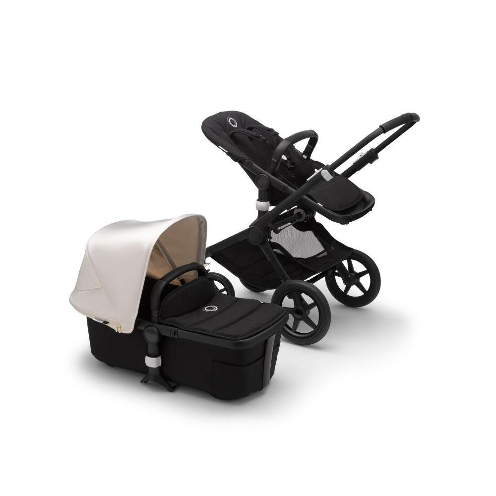 Bugaboo Fox2 коляска 2 в 1 Black/ Black/ Fresh White complete