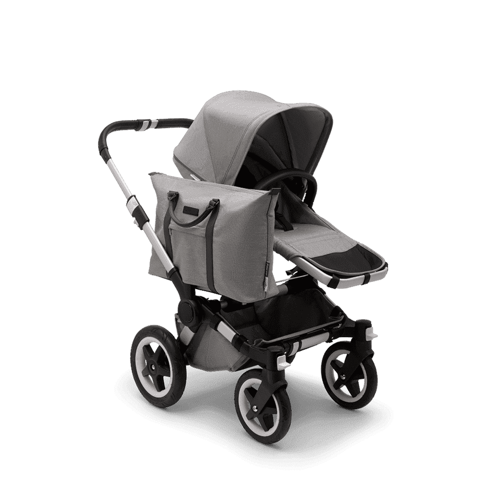 Bugaboo Donkey2 Коляска 2 в 1 Mono Mineral LIGHT GREY / ALU