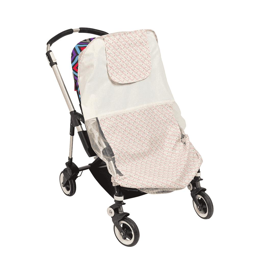 MAMMIE  Хлопковый матрасик в коляску и автокресло -яблочная поляна