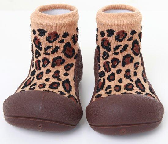 ATTIPAS обувь Animal леопард коричневый, р. S (3-6мес.) от olant-shop.ru
