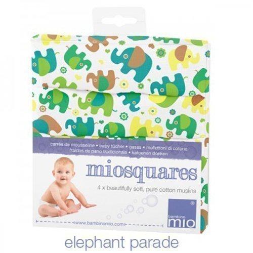 BAMBINO MIO хлопковые салфетки МУСЛИН  4шт. парад слоников