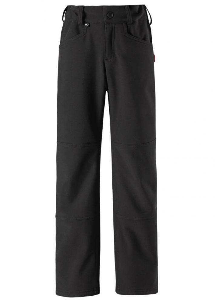 Купить Одежда для весны, REIMA брюки Softshell MIGHTY черные р.104