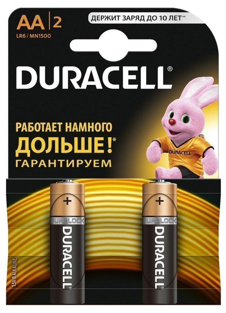 Купить Duracell элемент питания lr6 bl2(aa), 2шт.