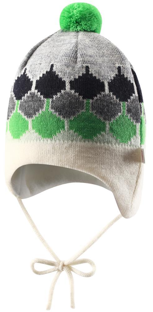 Купить Шапки, варежки, перчатки, REIMA BABY Шапка шерстяная Unge зеленая р.44/46