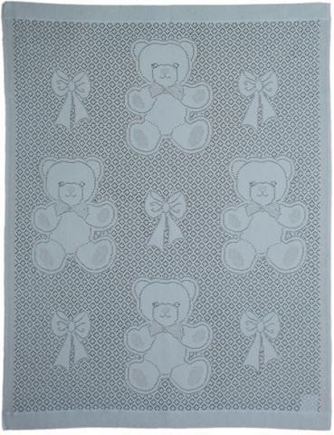 MYB плед Bear and Bows 76х102см голубой 839