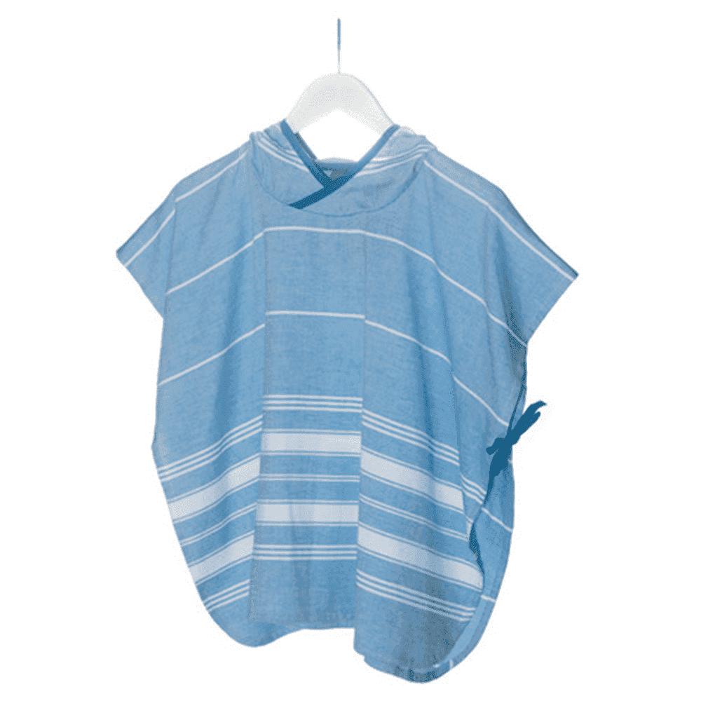 KIPKEP полотенце-пончо М  3-5 лет, голубой