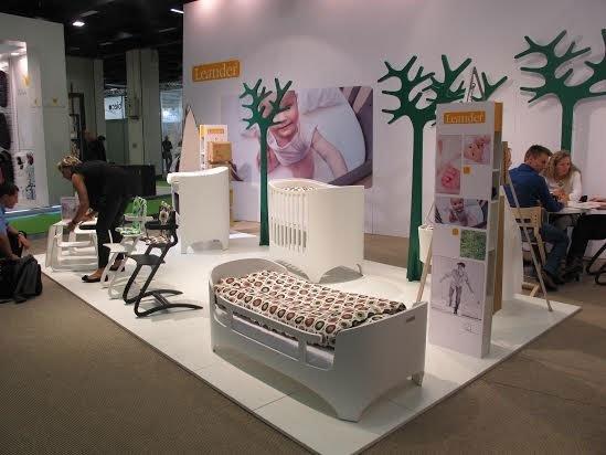 LEANDER кровать-трансформер с матрасом для детей Орех