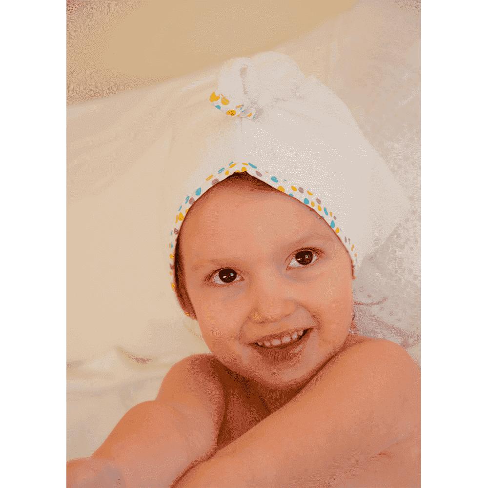 CUDDLEDRY полотенце  для волос с отделкой ОЛАНТ