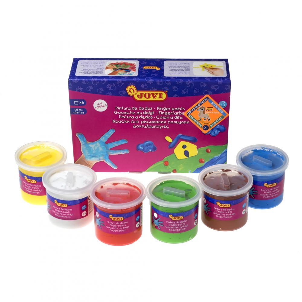 Творчество и младенческая канцелярия JOVI краски играем вместе пальчиковые краски multiart