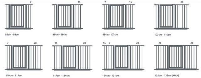 LINDAM дополнит. секция к воротам Белый 14 см от olant-shop.ru
