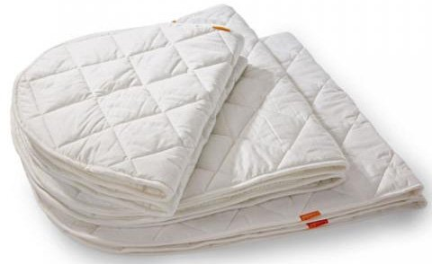 LEANDER Матрасик стеганный Бэби овальный 70х120см (для кроватки Трансформер)