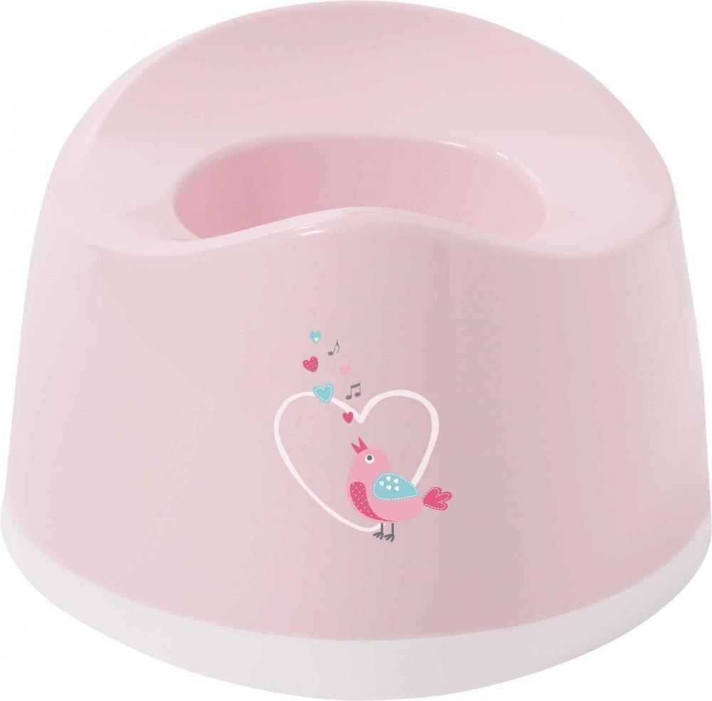 BEBE JOU горшок детский нежно-розовый Птички певчие 6025 83