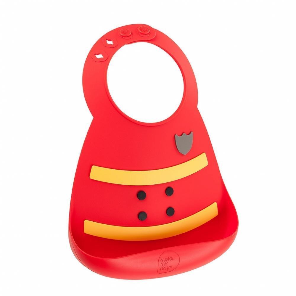 Make My Day Детский нагрудник, красный Fireman