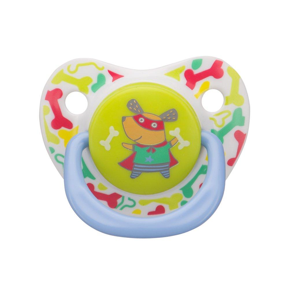 HAPPY BABY Силиконовая соска-пустышка симметричной формы Baby soother Natural dental CAT (12-24 мес)