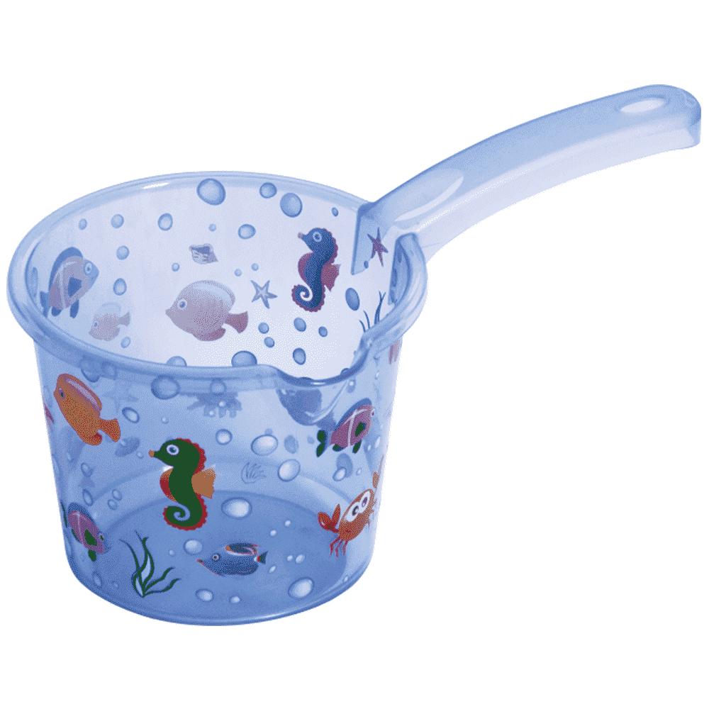 SEVI BABY ковшик голубой с морскими животными