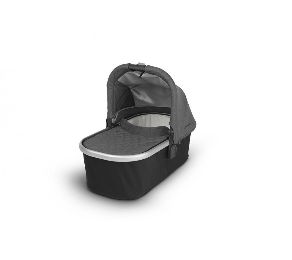 Купить Коляски для новорожденных, UPPABABY Люлька для коляски Cruz и Vista 2018 JORDAN (black/grey malange) графитово-серый меланж