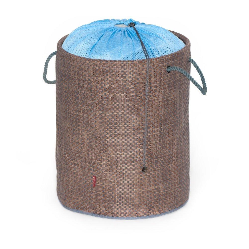 Купить Комоды, системы для хранения, CASY HOME Мягкая корзина для белья, детских игрушек и других вещей синий 38х47см