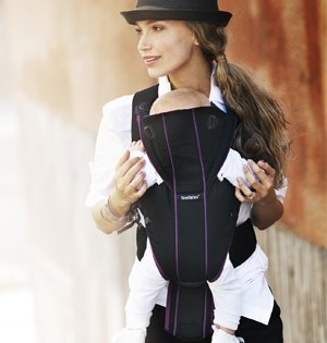 BABYBJORN рюкзак для переноски ребенка  Miracle черный/серебристый Cotton Mix