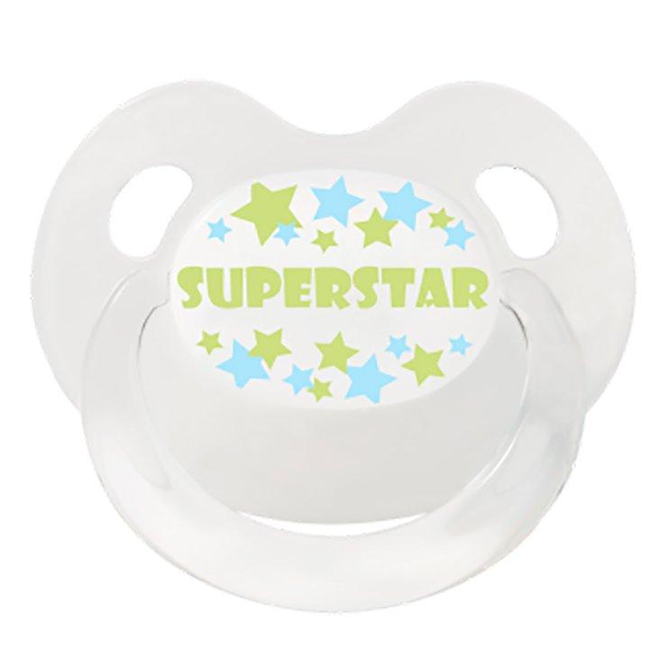 BIBI пустышка Dental силикон Дневная 0-6 мес. BasicCare SuperStar White 112377