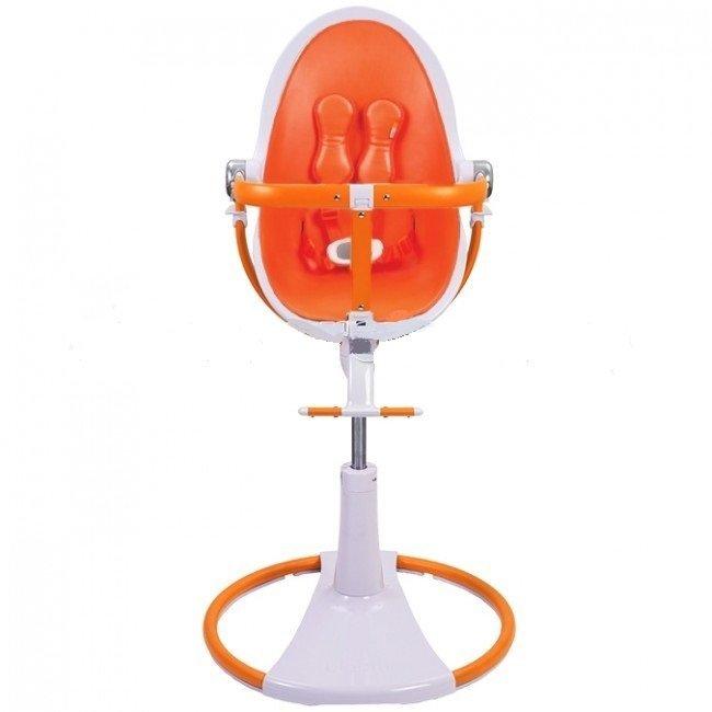 BLOOM Стульчик+ вставка Fresco chrome GIRO белый/оранжевый Е10517-WHOHOL