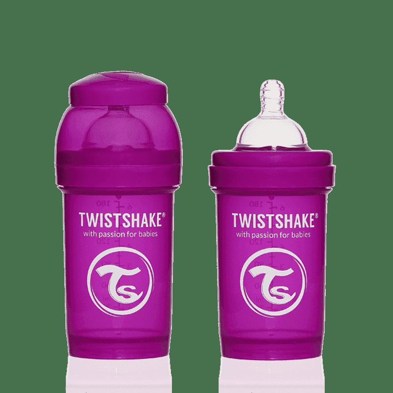 TWISTSHAKE бутылочка для кормления 180 мл с контейнером для сухой смеси и соской 0+, лиловая TWISTSHAKE бутылочка 180