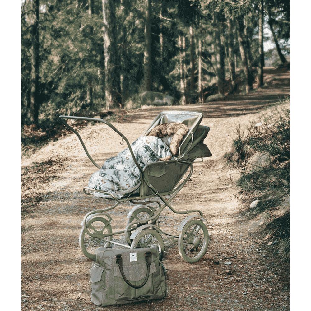 ELODIE DETAILS конверт зимний с опушкой в коляску Forest Flora ELODIE DETAILS конверт с опушкой