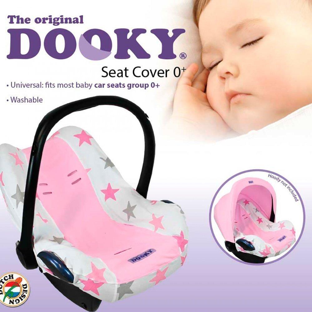 XPLORYS Чехол в автокресло DOOKY Seat cover 0+ цв. Pink Stars XPLORYS_капюшон для автокресла (DOOKY- XPLORYS)
